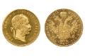 Goldmünze poliert