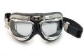 Motorradbrille versilbern